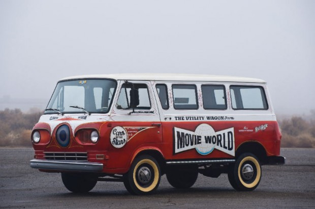 <strong>1965 Ford E100 Econoline Van - Estimate $40,000 - $60,000.</strong> Former Movie World utility van, with graphics and modifications by Von Dutch.