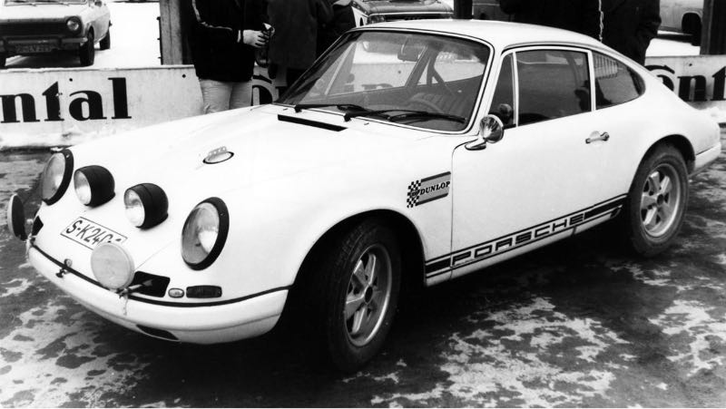 Press preview of the 911 R 2,0 Coupe (Factory vehicle), Hockenheim, January 1969