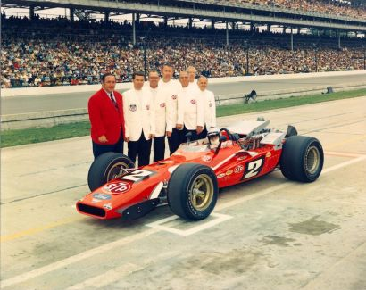 Winning team at the 1969 Indy 500