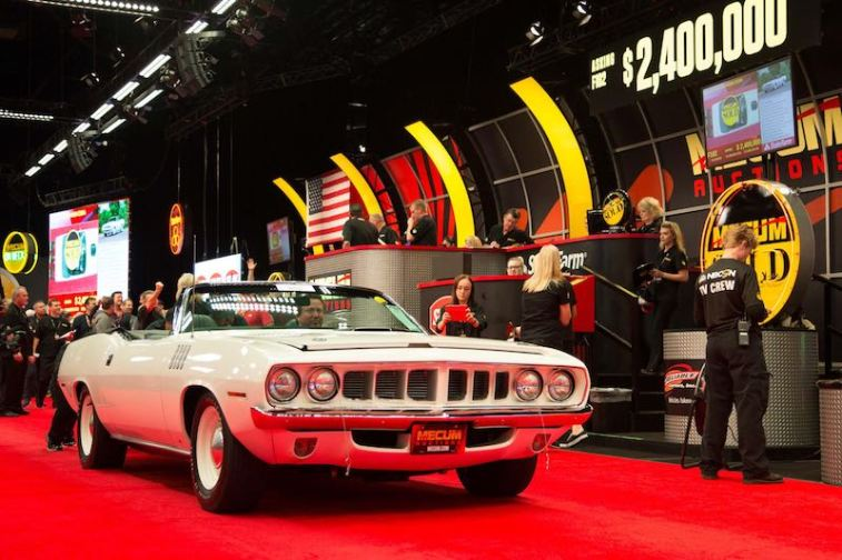 1971 Plymouth Hemi Cuda Convertible (Lot F102) sold for $2,300,000