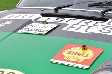 Quick release hatches on the front hood of the 1971 Porsche 911 STR