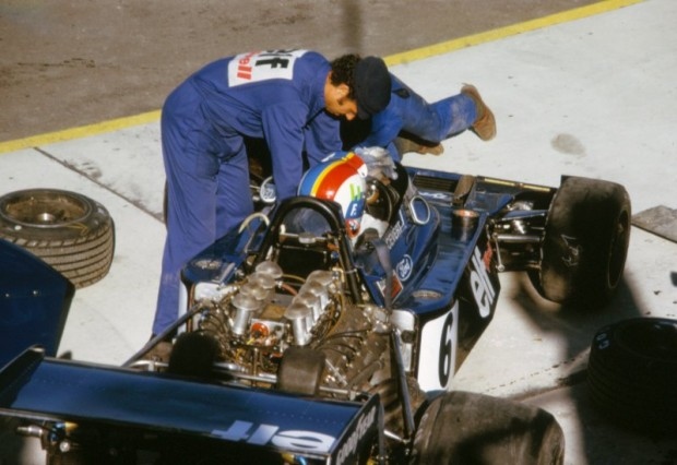 Francois Cevert in his Tyrrell 006 on Saturday morning