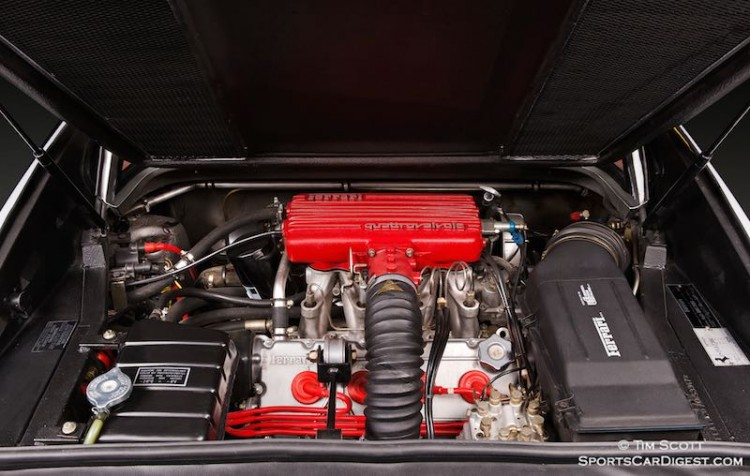 Lusty 2.9-Litre V8 with 4-valve (Quattrovalvole) heads powered the 1985 308 GTB QV