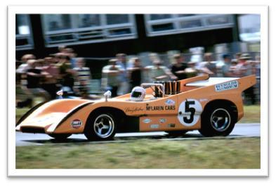 McLaren M8D of Denny Hulme