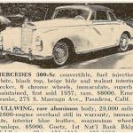 Mercedes-Benz 300 SC – Classic Cars for Sale