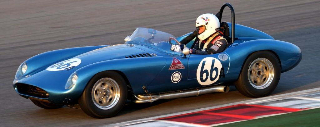 Stephens Steers in his very pretty and very fast 1958 Echidna Roadster
