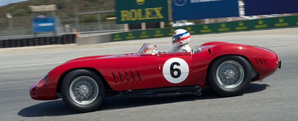 Derek Bell in Jon Shirley's 1957 Maserati 300S.