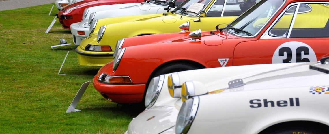 Some of the fantastic Ingram Collection at the 2014 Porsche Werks Reunion