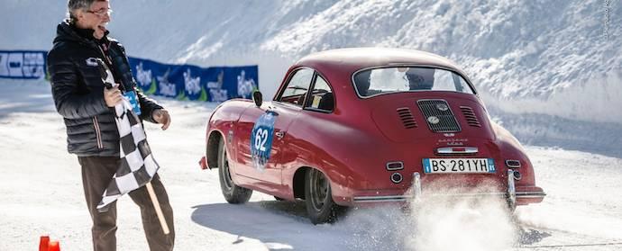 Porsche 356 at Winter Marathon Rally 2014
