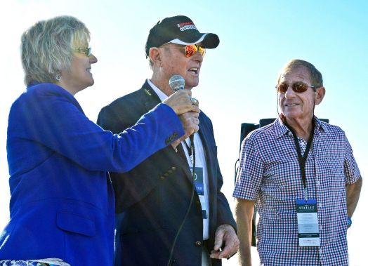 Bob Bondurant (Center) opens the 2015 event