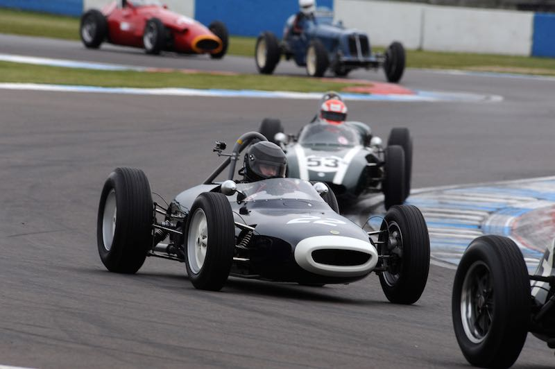 Peter Horsman in the winning Lotus 18 in the HGPCA pre-61 and pre-66 Grand Prix cars race (photo: Jeff Bloxham)