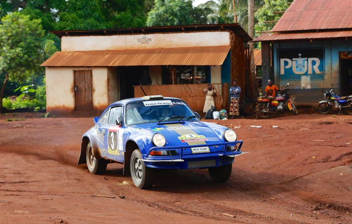 Porsche 911 driven by Stig Blomqvist and Stephane Prevot