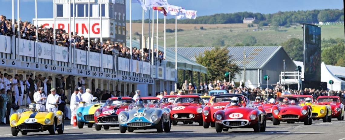 Start of the Goodwood Revival 2015 - Lavant Cup for Ferraris