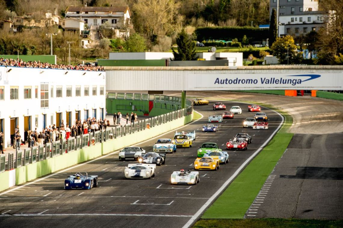 Classic Endurance Racing grid at Vallelunga Classic 2015