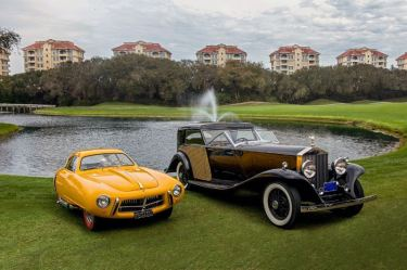 1930 Rolls-Royce Phantom II Town Car and 1952 Pegaso Z-102 Cupula Coupe (photo: Nathan Deremer)