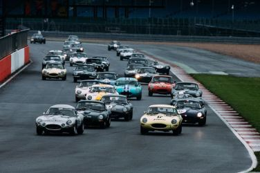 Start of the Jaguar Classic Challenge Race Two (photo: Malcolm Griffiths)