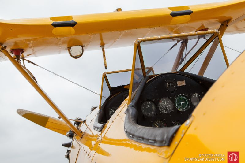 Pilot's view - Boeing Stearman Model 75 biplane