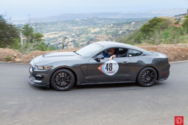 Jere Clark enjoying the rally in his 2016 Shelby GT 350