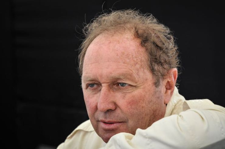 Jochen Mass at the Goodwood Festival of Speed in 2014