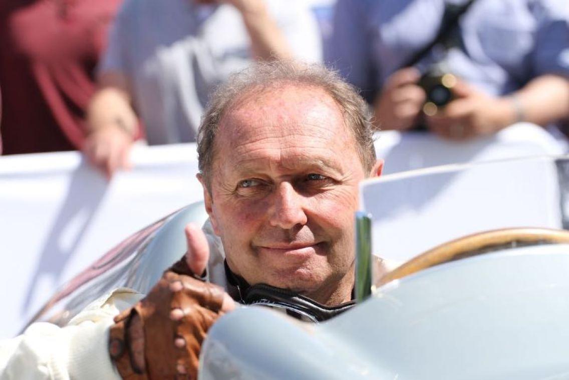 Thumbs up from Jochen Mass (photo: Adam Beresford)