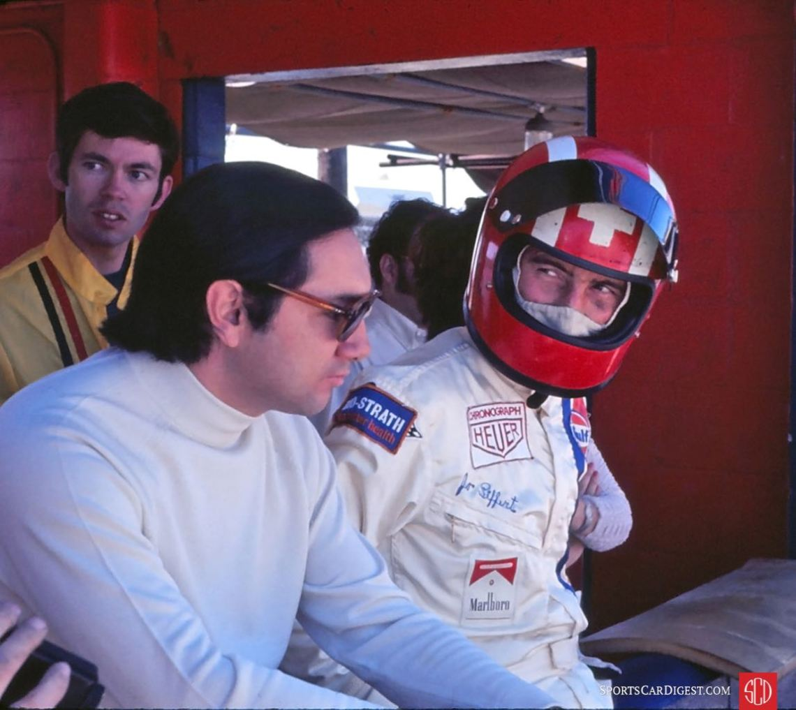Gulf drivers Pedro Rodriguez and Jo Siffert (Photo: Gene Bussian)