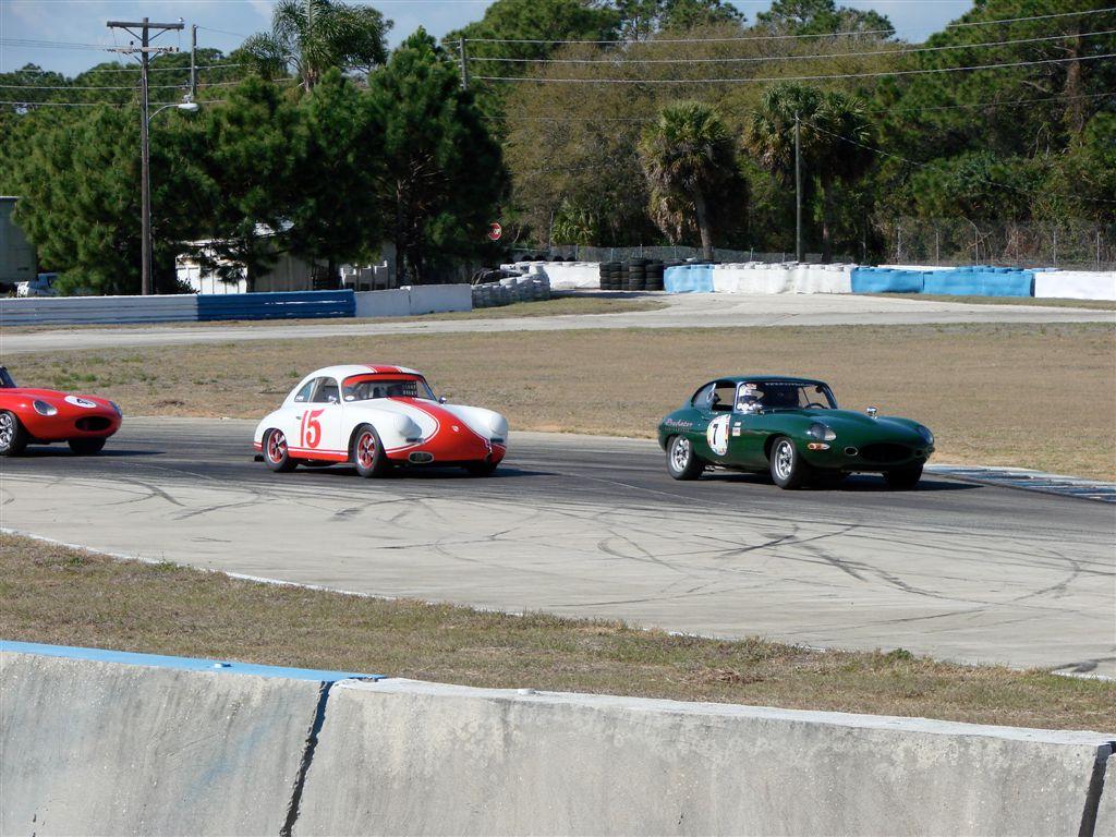 HSR Sebring Challenge Jaguar XKE and Porsche 356