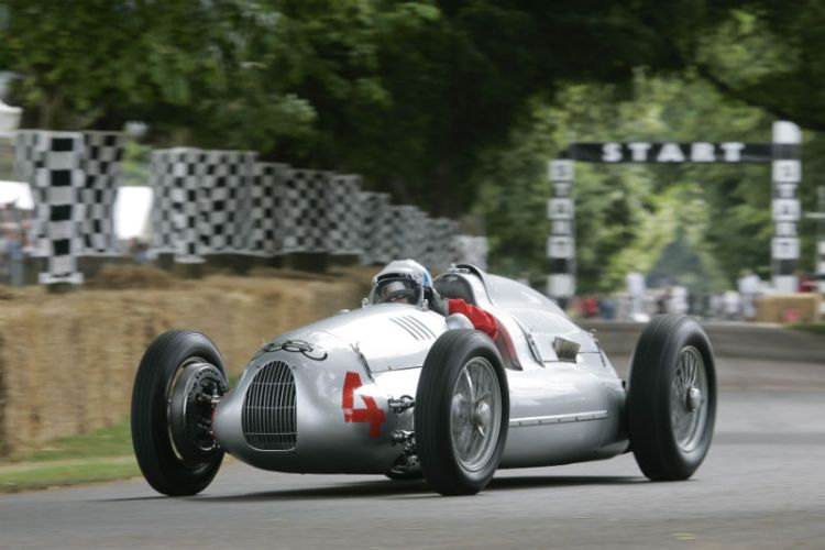Auto Union Type D driven by Nick Mason