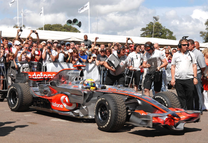 Lewis Hamilton in the McLaren F1