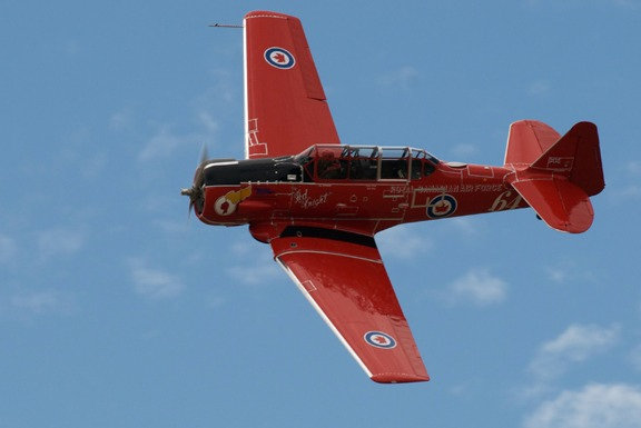 Keith McMann in his Red Knight Harvard Mk. IV