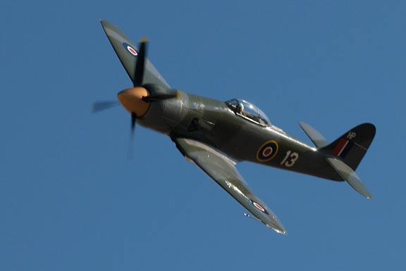Nelson Ezell's Hawker Sea Fury in Sunday's Gold race