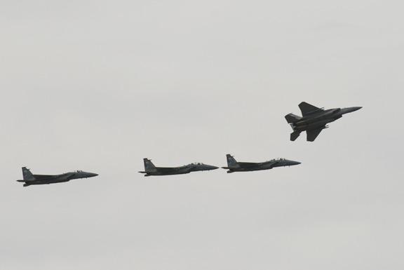 USAF F15 Fly-by