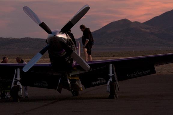 Pre-dawn Voodo preparing for flight