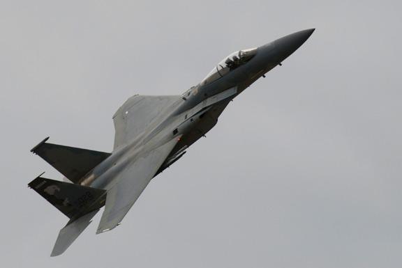 USAF F-15 lifts off