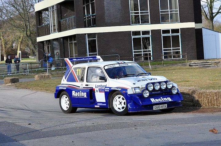 Ex-Jimmy McRae MG Metro 6R4 driven by Lloyd Tredell