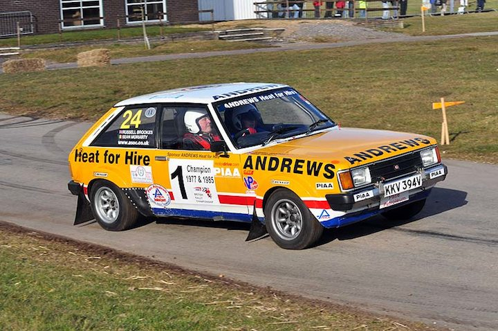 Former British Champion Russell Brookes in his Talbot Sunbeam Lotus