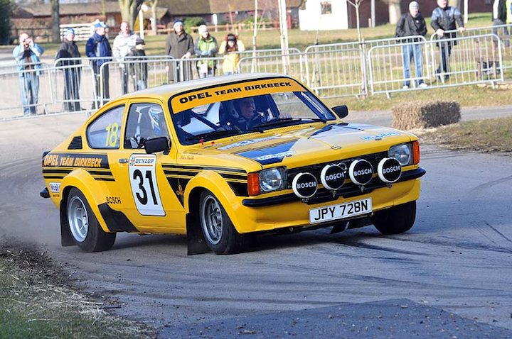 Opel Kadett at speed