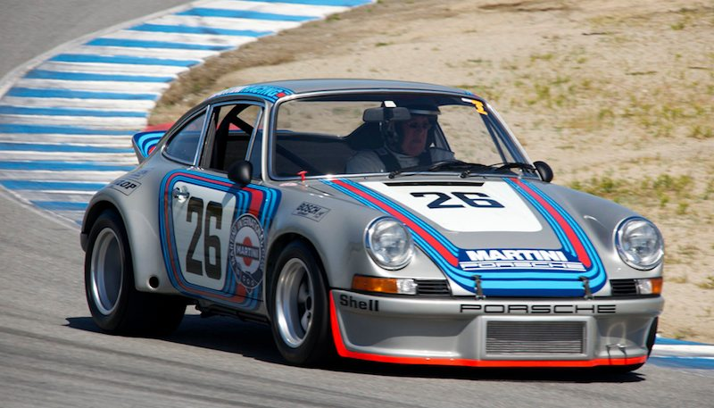 Brad Hook in his 1973 Porsche 911 RSR.