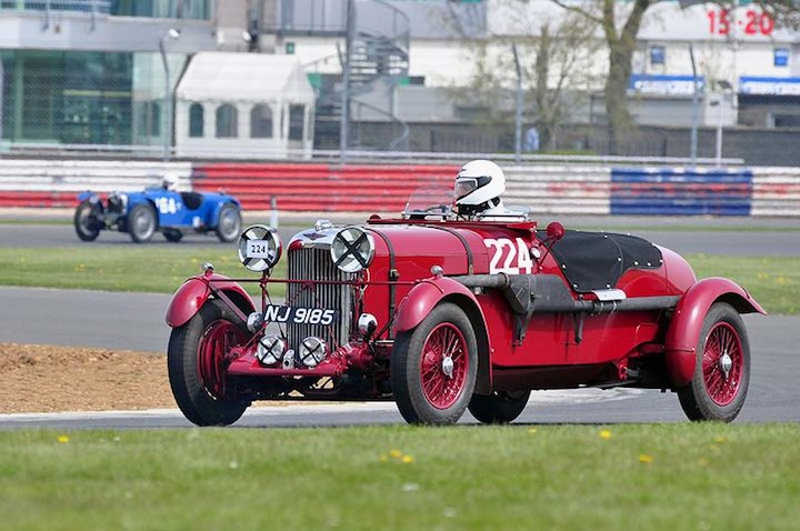 Lagonda LG45 TT replica 1936 driven by Stephen Matthews