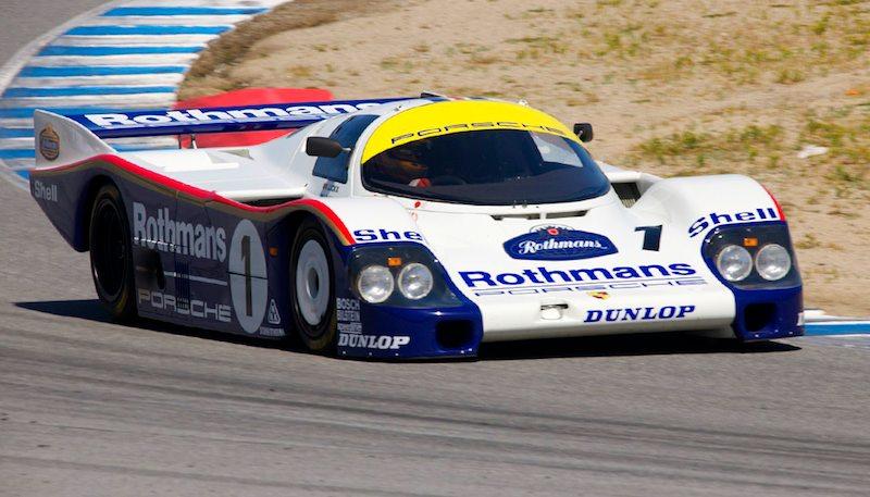 Ransom Webster in his Rothmans Porsche 956.