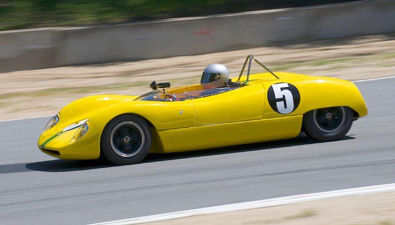 Victor Avita in his 1964 Brabham BT5 between 8 and 9.