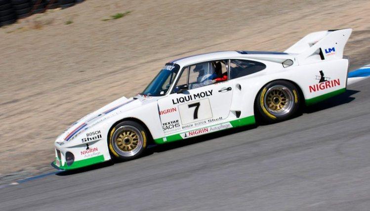 Down the Corkscrew Richard Harris in his 1979 Porsche 935J.