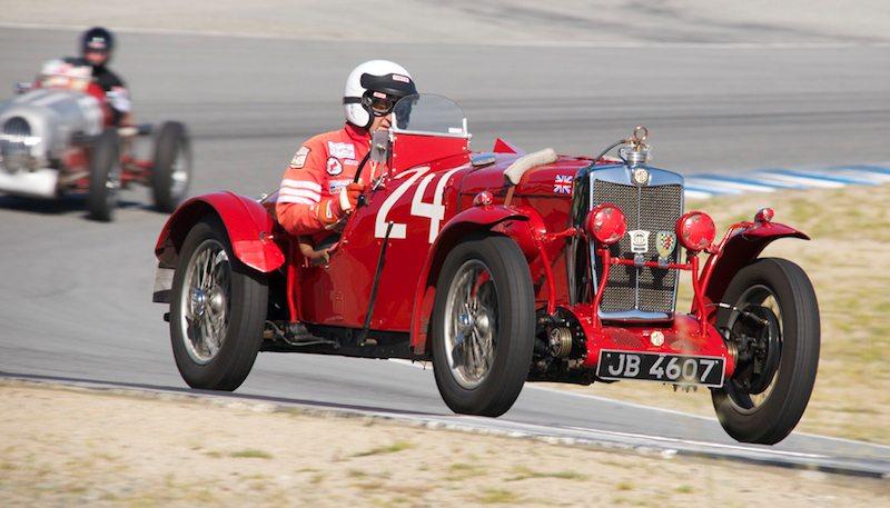 Pete Thelander in his wonderful 1934 MG NE.