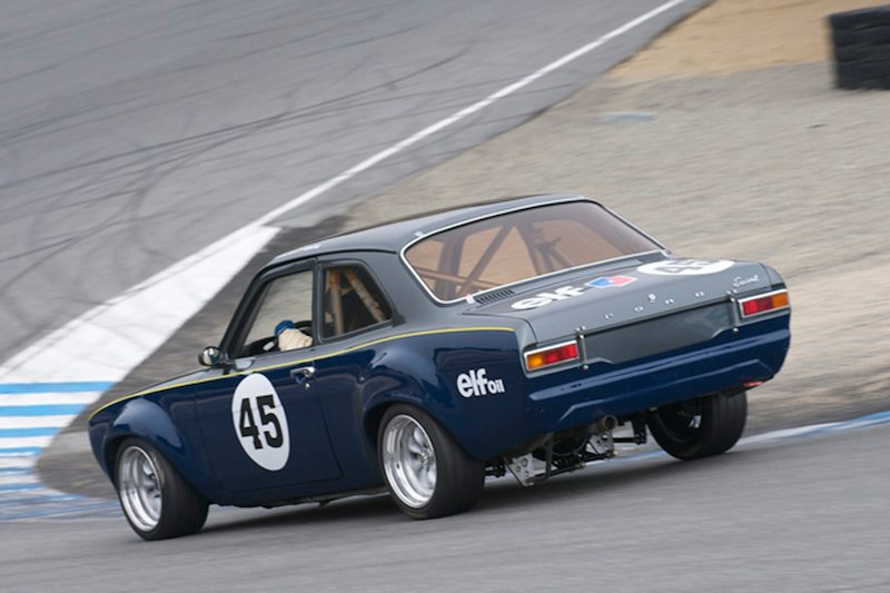 Francois Castaing's very quick 1970 Escort R8 Ford in the Corkscrew.