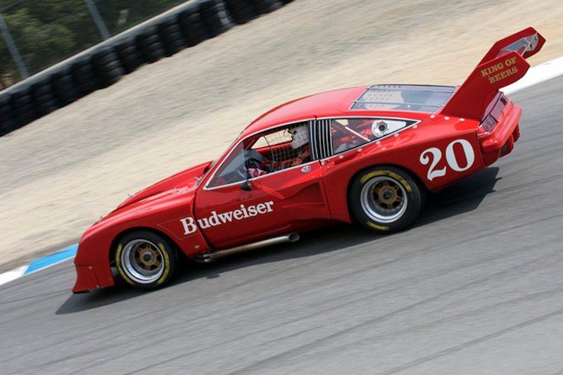 Ken Epsman's 1976 Chevrolet Dekon Monza accelerates down the Corkscrew.