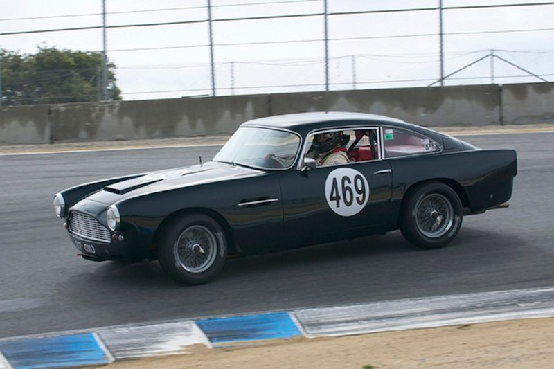 A rare sight on the West Coast an Aston Martin DB4GT of Lawrence Macks.