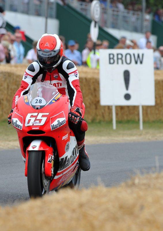 Modern GP Motorcycle
