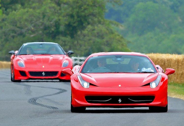 Ferrari 458 Italia and 599 GTO