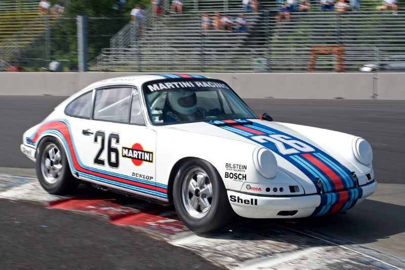Ernie Yakimovich in his 1969 Porsche 911.