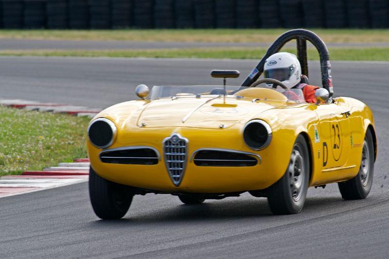 Frank Anderson in his Alfa Romeo Giulietta Spyder.