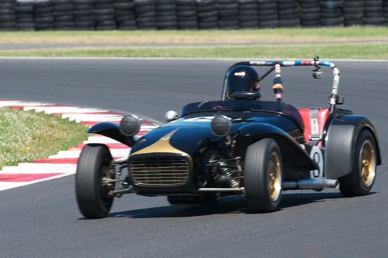 Paul Quackenbush in his fast Lotus S7.